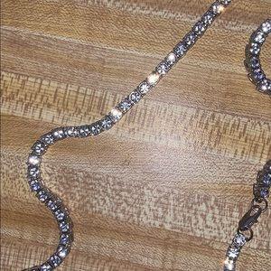 1.2 cut diamond VVS diamonds FLAWLESS TENNIS CHAIN